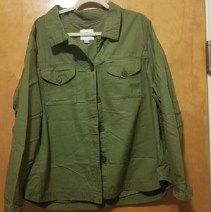 Old Navy  Embroidered Military Jacket